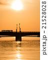 夕日 夕暮れ 橋の写真 21528028