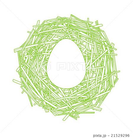 Straw nest with big egg 21529296