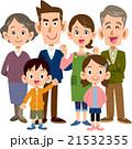 家族 三世代 6人 全身 21532355
