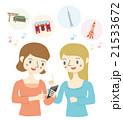 スマホで東京の観光情報を検索する女性 21533672