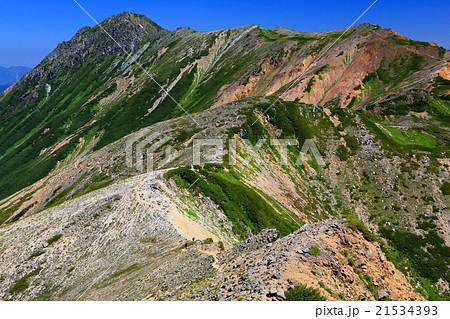 北アルプス・水晶岳への稜線 21534393