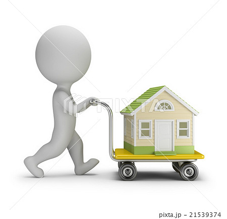 3D Small People - Carries a House 21539374