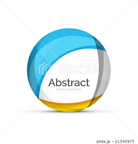 Circle logo. Transparent overlapping swirl shapesのイラスト素材 [21540975] - PIXTA