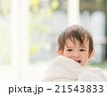 赤ちゃん 女の子 バスタオルの写真 21543833