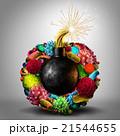 ウィルス ウイルス 病原菌のイラスト 21544655