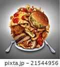 ハンバーガー ピザ ピッツァのイラスト 21544956