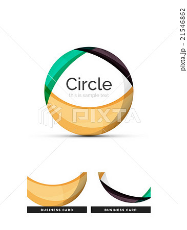 Circle logo. Transparent overlapping swirl shapesのイラスト素材 [21546862] - PIXTA
