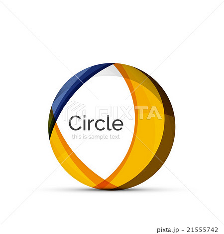 Circle logo. Transparent overlapping swirl shapesのイラスト素材 [21555742] - PIXTA