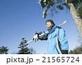スキーをする20代男性 21565724