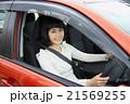 自動車と女性ドライバー 21569255