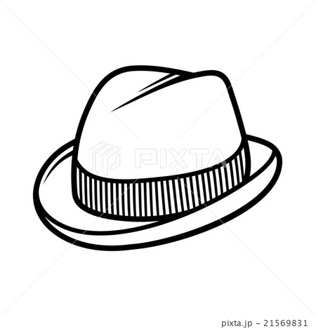 Mans Trilby Hat Icon Isolated on White Backgroundのイラスト素材 [21569831] - PIXTA