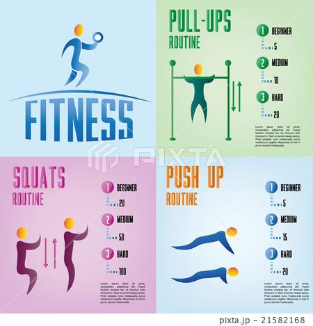 fitnessのイラスト素材 [21582168] - PIXTA