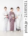 女性 友達 着物の写真 21585921
