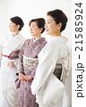女性 友達 着物の写真 21585924