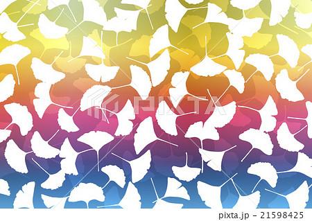 背景素材壁紙 楓 いちょう イチョウ 銀杏 落葉 山 自然 木 風景 和風 柄 伝統模様 日本 秋 のイラスト素材