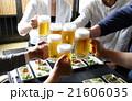 ビール 生ビール 乾杯の写真 21606035