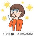 花粉 花粉症 女性のイラスト 21608068