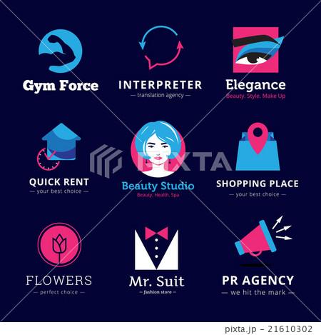 Set of bright modern logos. のイラスト素材 [21610302] - PIXTA