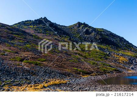 トムラウシ山頂に続く登山道。北沼付近より。9月 21617214