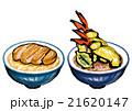 丼 どんぶり 天丼 カツ丼 21620147