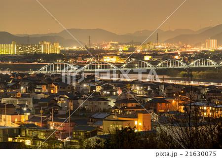 水管橋 夜景デフォルメ (兵庫県加古川市)の写真素材 [21630075 ...