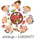 焼き肉を食べる三世代家族 21630477