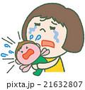 泣き叫ぶ子供 困るお母さん 21632807