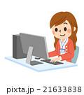 PCと女性社員 笑顔 21633838