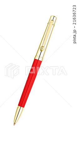 Isolated golden pen over white backgroundの写真素材 [21636723] - PIXTA