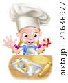 お菓子づくり 子 子供のイラスト 21636977