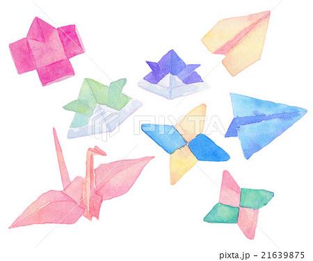 水彩イラスト 折り紙のイラスト素材 21639875 Pixta
