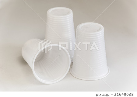 Three Plastic glassesの写真素材 [21649038] - PIXTA