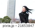 ストレートロングヘアの若い女性 21653847