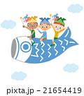 鯉のぼりに乗っている子供達 21654419