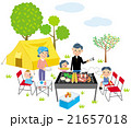 キャンプ 家族 21657018