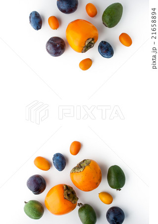 Fruit mix on the white background verticalの写真素材 [21658894] - PIXTA