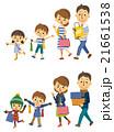 買い物 家族 親子のイラスト 21661538