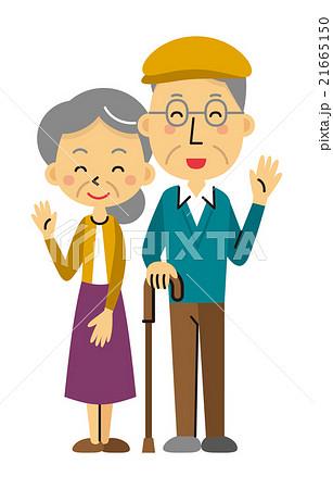 シニア夫婦【三頭身・シリーズ】 21665150