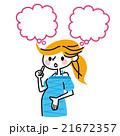 妊婦 吹き出し 21672357
