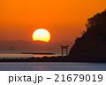 朝日 鳥居 日の出の写真 21679019