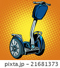 Abstract electric scooter with flashlight segway 21681373