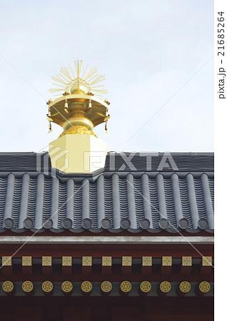 平城宮・大極殿の屋根の上の金の飾り(平城宮跡/奈良県奈良市) 21685264