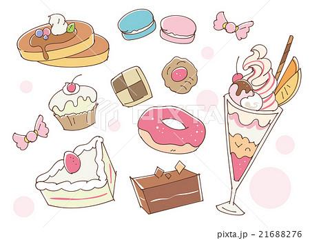 お菓子のイラストのイラスト素材 21688276 Pixta