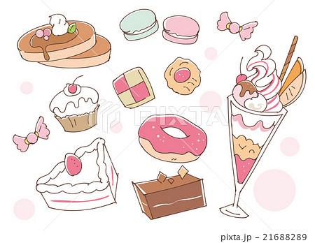 お菓子のイラストのイラスト素材 21688289 Pixta
