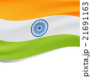 Waving flag of India isolated on white 21691163
