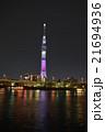 墨田公園 夜桜 ライトアップの写真 21694936