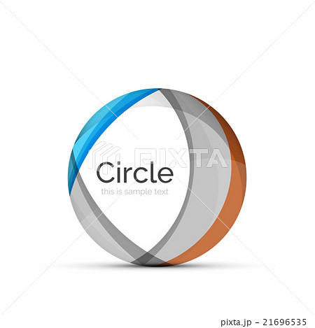 Circle logo. Transparent overlapping swirl shapesのイラスト素材 [21696535] - PIXTA