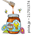 honey jar with wooden 21701374