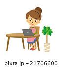 パソコンと主婦【三頭身・シリーズ】 21706600