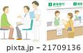 病院 診察 受付のイラスト 21709136